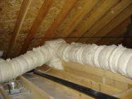 Утепление вентиляционных труб на холодном чердаке