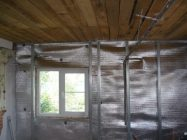 Утепление стен фольгоизолом изнутри
