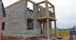 Дом в пол блока керамзитобетона асфальто бетонной смеси