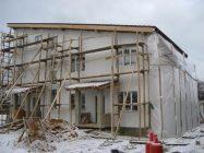 Мокрый фасад зимой технология