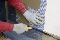 Как клеить сетку на пеноплекс