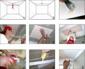 Как правильно приклеить потолочную плитку из пенопласта